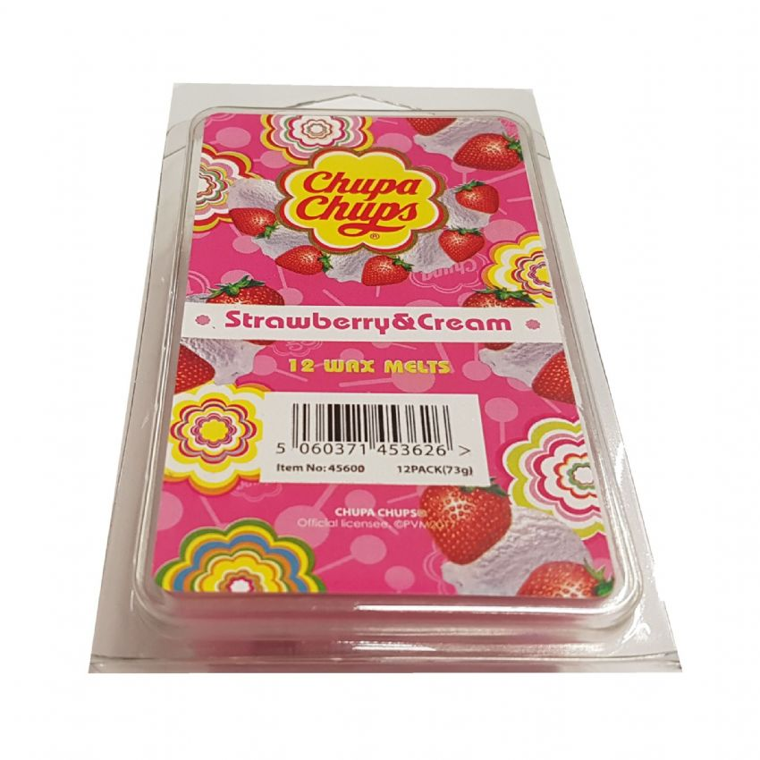 Strawberry  & Cream Scented - Chupa Chups Wax Melts 12 Pack